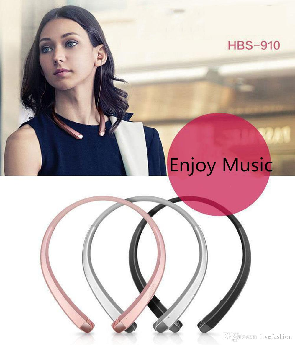 HBS910 Bluetooth Headphones Headset Earphone Sports High Quality 4.1 CSR Chip best quality With Package for iphone 7 plus s8 edge HBS 910