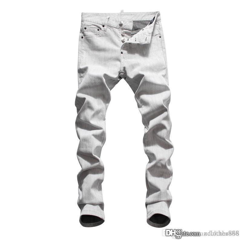 2020 Mens Designer jeans da uomo lavare tendenza vernice spray sottile micro-bomba jeans di marca viola pantaloni Moda Pantalon de stilista pour hommes