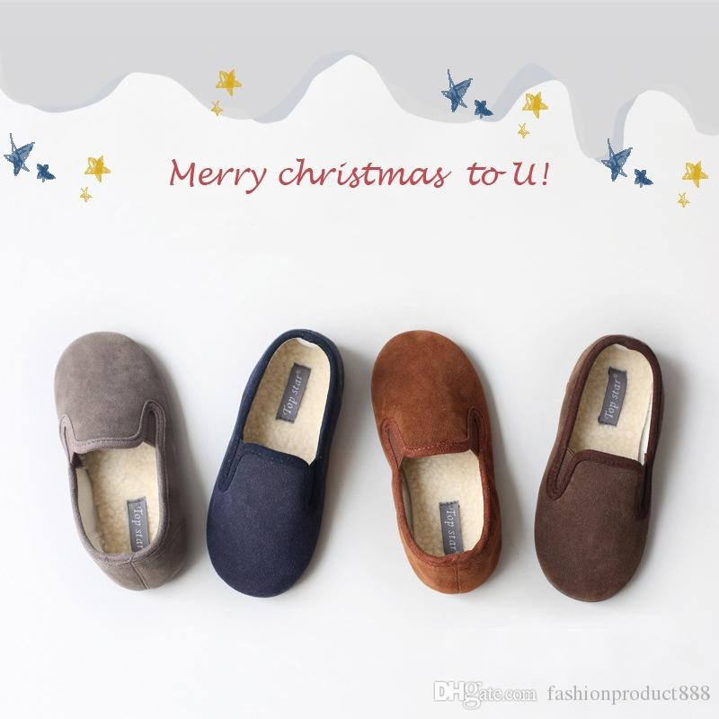 Fashion Kids Designer Shoes Suede Cloth Peas Soft Sol Boys Girls Toddler Chaussures Sneakers Trainer Bébé for Kids School Shoes Uptempo