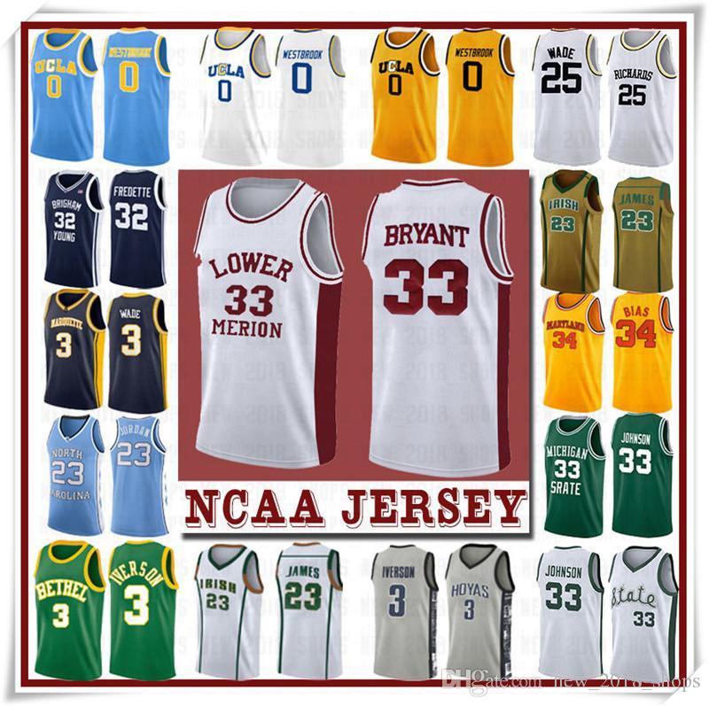 NCCA-Jersey Leonard Kawhi James Iverson Männer 23 Lebron Durant 13 Härten Curry Stephen College Basketball Trikots Russell Westbrook Men18