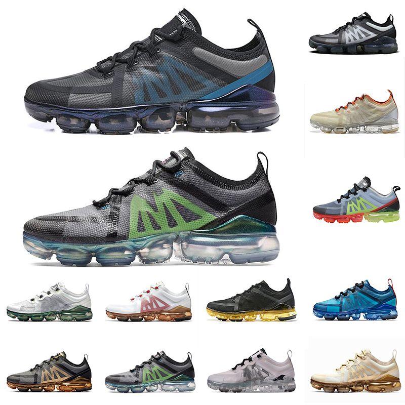 VAPORMAX Orijinal Kutusu CPFM X VPM Koşu Ayakkabıları Beyaz Kireç Geniş Gri Volt Hava Kadın Erkek PRM Alüminyum Mavi Eğitmenler Spor Sneakers 36-45