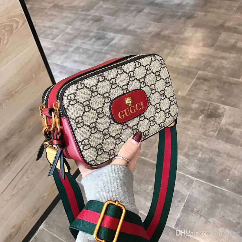 ضربت جديدة موضة رسول حقيبة نمر رأس الطباعة المرأة لون حقيبة مربع صغير النسخة الكورية حقائب الكتف البرية V7 NEW