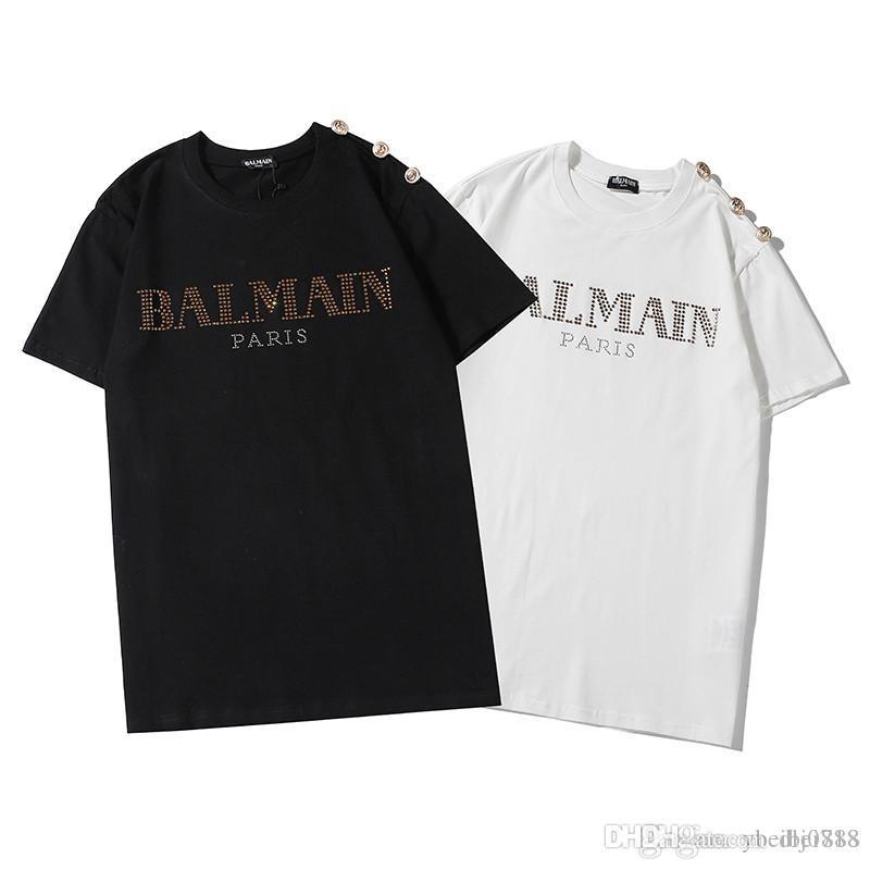 Весной и летом новые футболки тенденции печататься шеи мужчины экипажа и женщин половина рукава случайные моды футболки