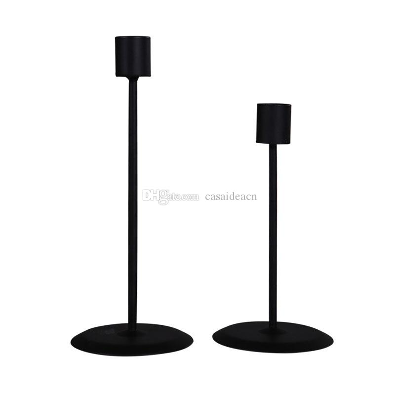 Cheap Black Taper Candle Holder Classic Metal Candlestick Set Of 2 Modern Simple Candle Stand Romantic Table Centerpieces From Casaideacn 4 94 Dhgate Com
