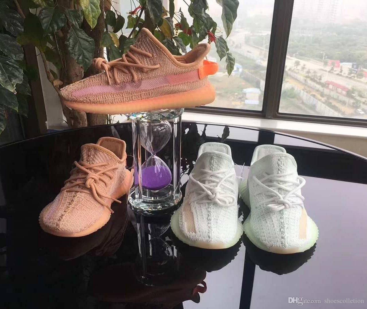 كاني ويست V2 الأسود ثابت اطفال اطفال الاحذية صحيح نموذج فرط الأحذية موجة عداء كلاي BELUGA الأبيض عاكس الرياضة صبي فتاة أحذية رياضية