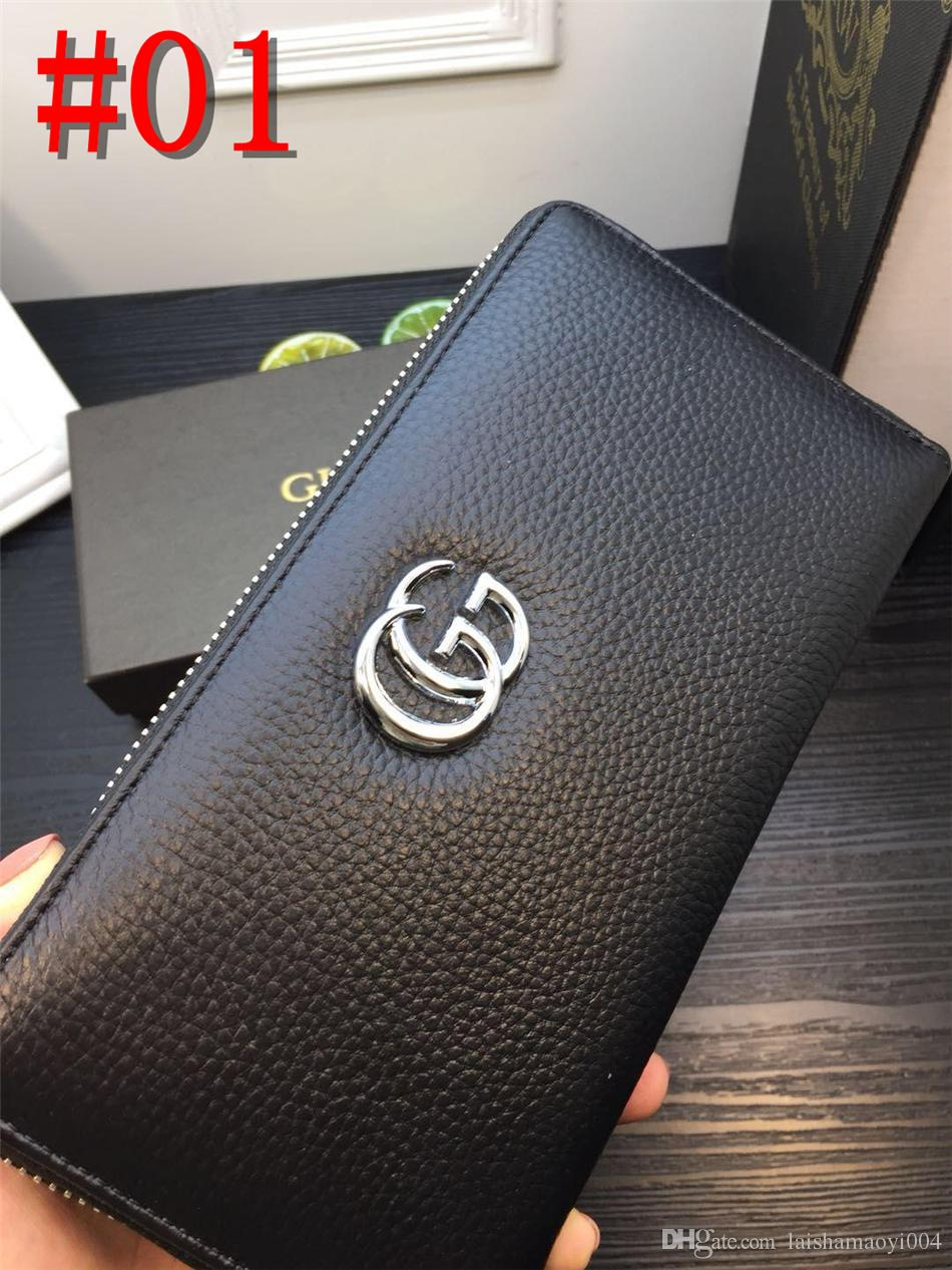 Men/'s Genuine Leather Business Clutch Handbag Wallet Purse Mobile Phone Bag USA