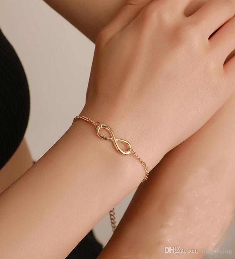 10pcs venda Hot Europa e titânio aço de moda Ouro Designer Luxury Jewelry Bracelet Partido das Mulheres América dança do punk jóias