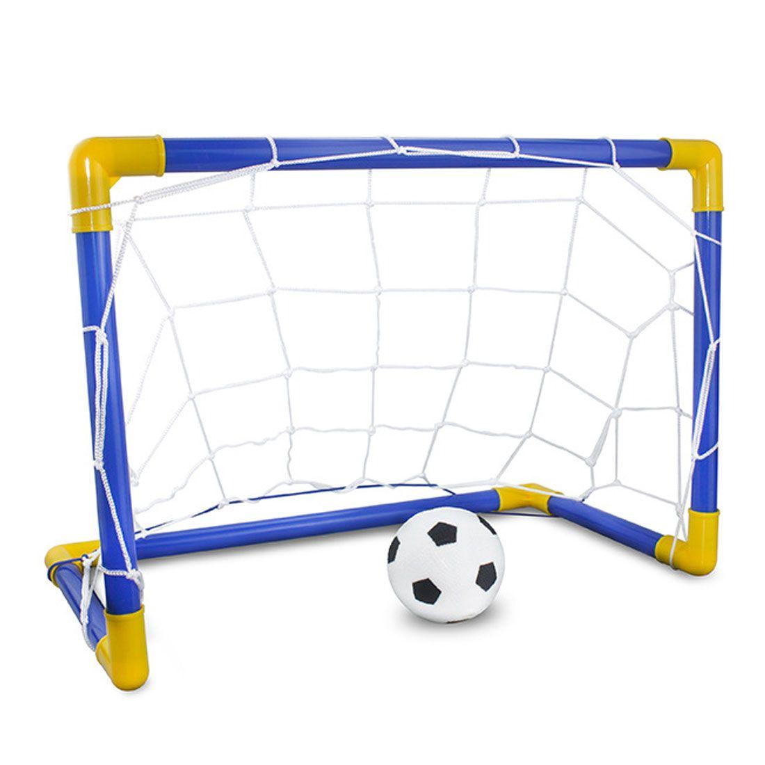 Hot 1 Set 축구 공과 펌프가있는 스포츠 축구 목표 실외 스포츠 실습 Scrimmage Game 분리 가능한 축구 게이트