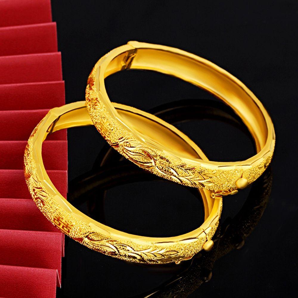 1 Pezzi monili di lusso Phoenix braccialetto nuziale oro giallo 18K ha riempito Dubai Classic regalo braccialetto delle donne