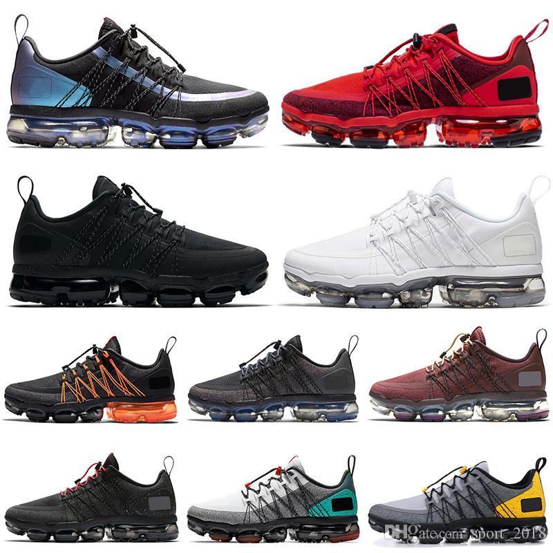 Nike air vapormax run utility 2019 Run Utility Future hombre mujer zapatillas triple negro blanco gris atletismo diseñador para hombre entrenador zapatillas deportivas corredor