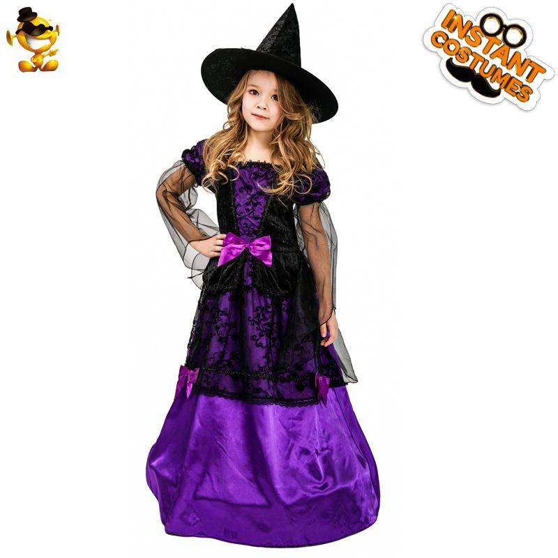 Dsplay Halloween Mystical Witch Costume Kids Purple Noble Elegant Long Dress Witch Fancy Costumes For Christmas Cosplay Boy Halloween Costumes Fun Halloween Costumes From Glorying 32 16 Dhgate Com