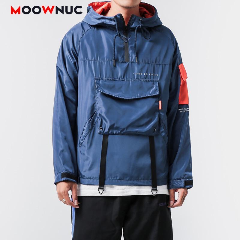 MOOWNUC prendas de vestir exteriores de Hip Hop chaquetas Kpop Moda Hombre Coats Nueva remiendo flojo de los hombres de ropa de primavera de vestir casual Niños del CMM
