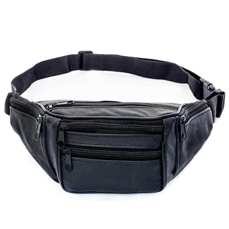Genuine cintura de couro Packs Ombro Man Bag Belt Masculino Bloco de Fanny bolso Crossbody Travel Bag macia Cell Phone