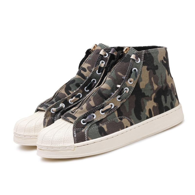 Size36-44 Mens Canvas Shoes High Top Sneaker Woman Shoes Male Casual Comfortable 2020 Sneaker Chaussure Camouflage Homme