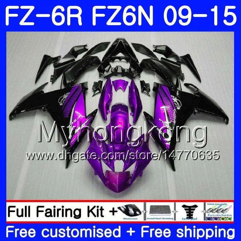 Корпус для YAMAHA FZ6N FZ6 R FZ 6N Fz6r фиолетовый черный новый 09 10 11 12 13 14 15 239HM.16 ФЗ-6р ФЗ 6р 2009 2010 2011 2012 2013 2014 2015 обтекатели