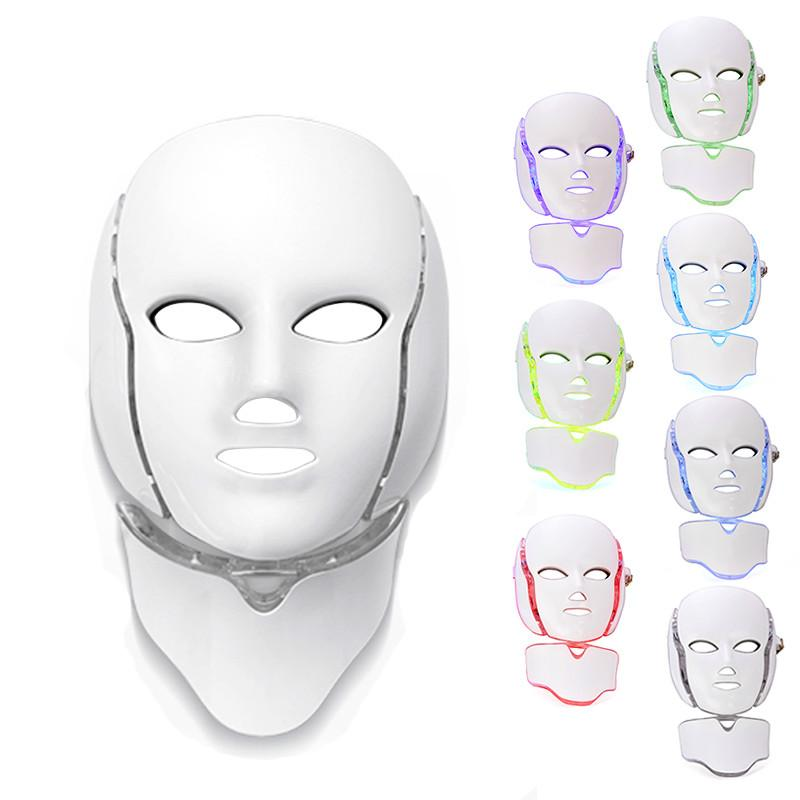 Great Facial Beauty Mask 2018 PTD Photon LED Face Neck Mask LED Treatment Skin Whitening Firming Electric Anti-Aging Mask A575