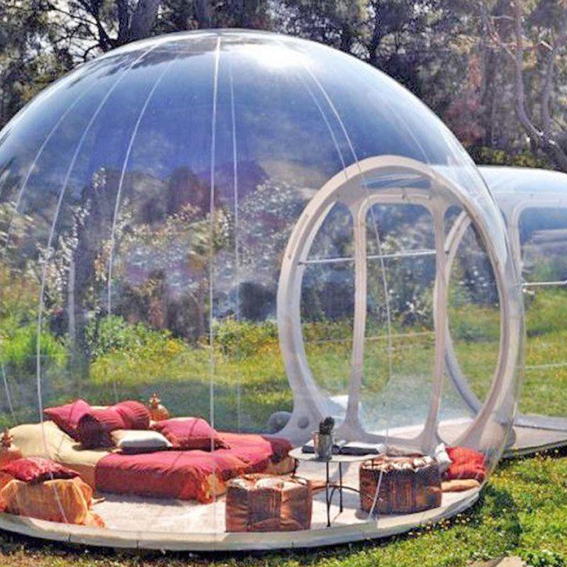 نفخ فقاعة خيمة شجرة، نفخ منزل عرض Famaily الفناء التخييم الخيام، 0.45mm البلاستيكية CARPAS دي التخييم 4 اشخاصا الغرفة