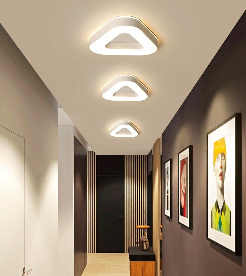 lámpara del pasillo del pasillo de la lámpara de la lámpara nórdica escalera de entrada de luz dormitorio moderno y minimalista balcón pequeño LED de iluminación de techo RW200