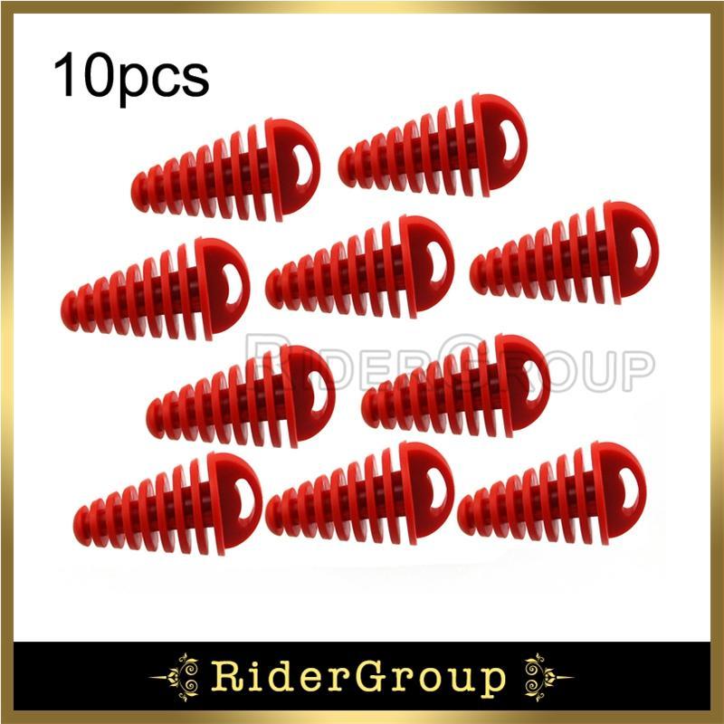 Caoutchouc rouge Silencieux tuyau d'échappement de lavage enfichable pour Yamaha KX RM CR XR CRF YZ 80 85 125 150 250