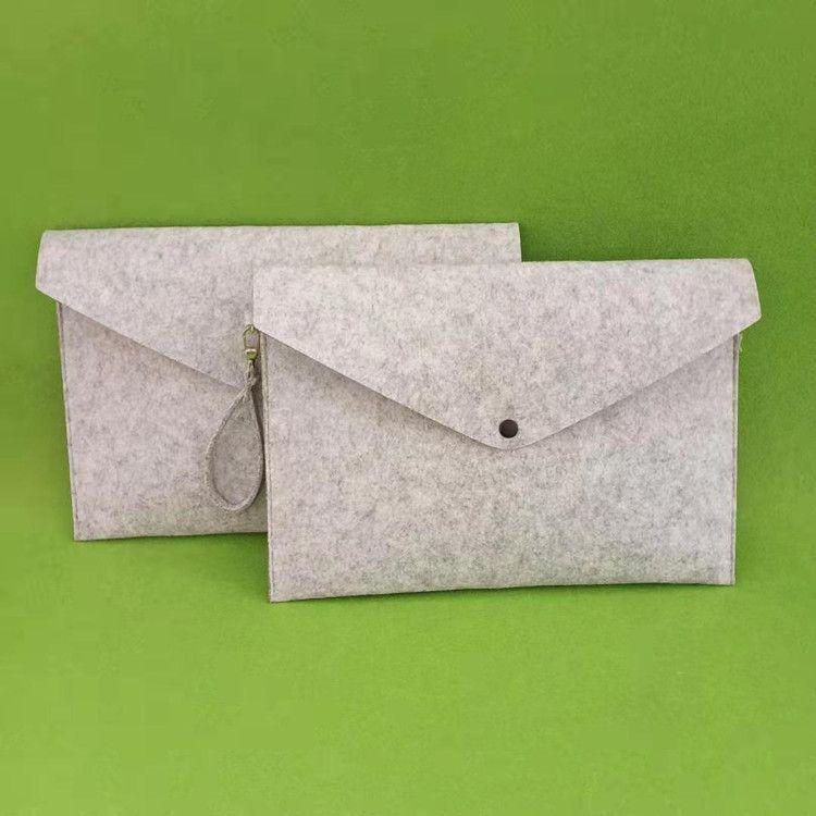 A4 Document Bag Paper File Folder Felt Filing Stationery School Office Case New