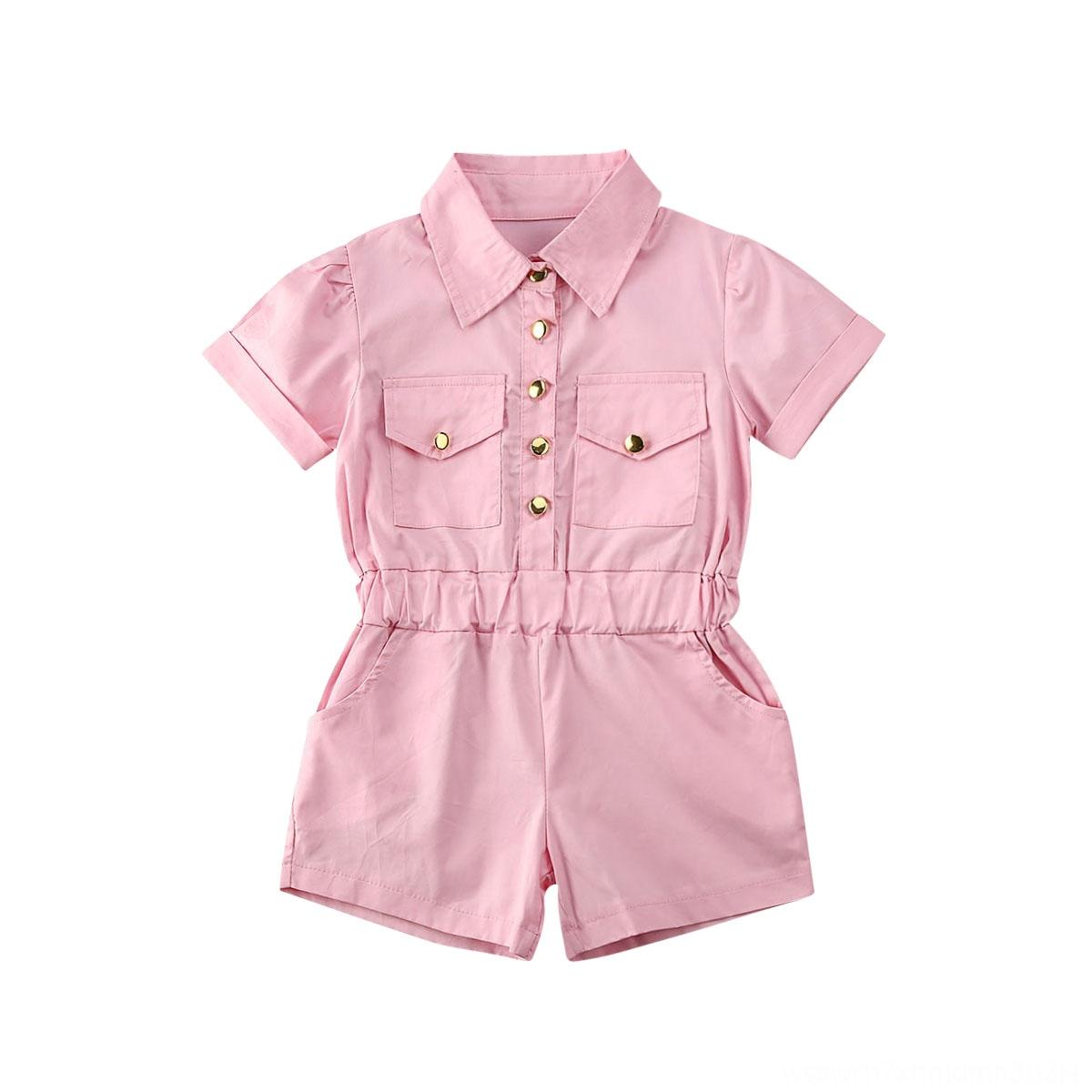 1-6Y Toddler Baby Kid Girls Vintage Jumpsuit Summer Jumpsuits&Rompers Baby & Kids Clothing Short Sleeve Romper Children Girls Costumes