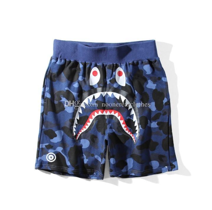 Ape delle donne degli uomini sportivo Beach Pantaloni corti Jogger Tuta causel girocollo Uccello OVO Drake nero Hip Hop stusay Uomini Shark bocca dei pantaloni