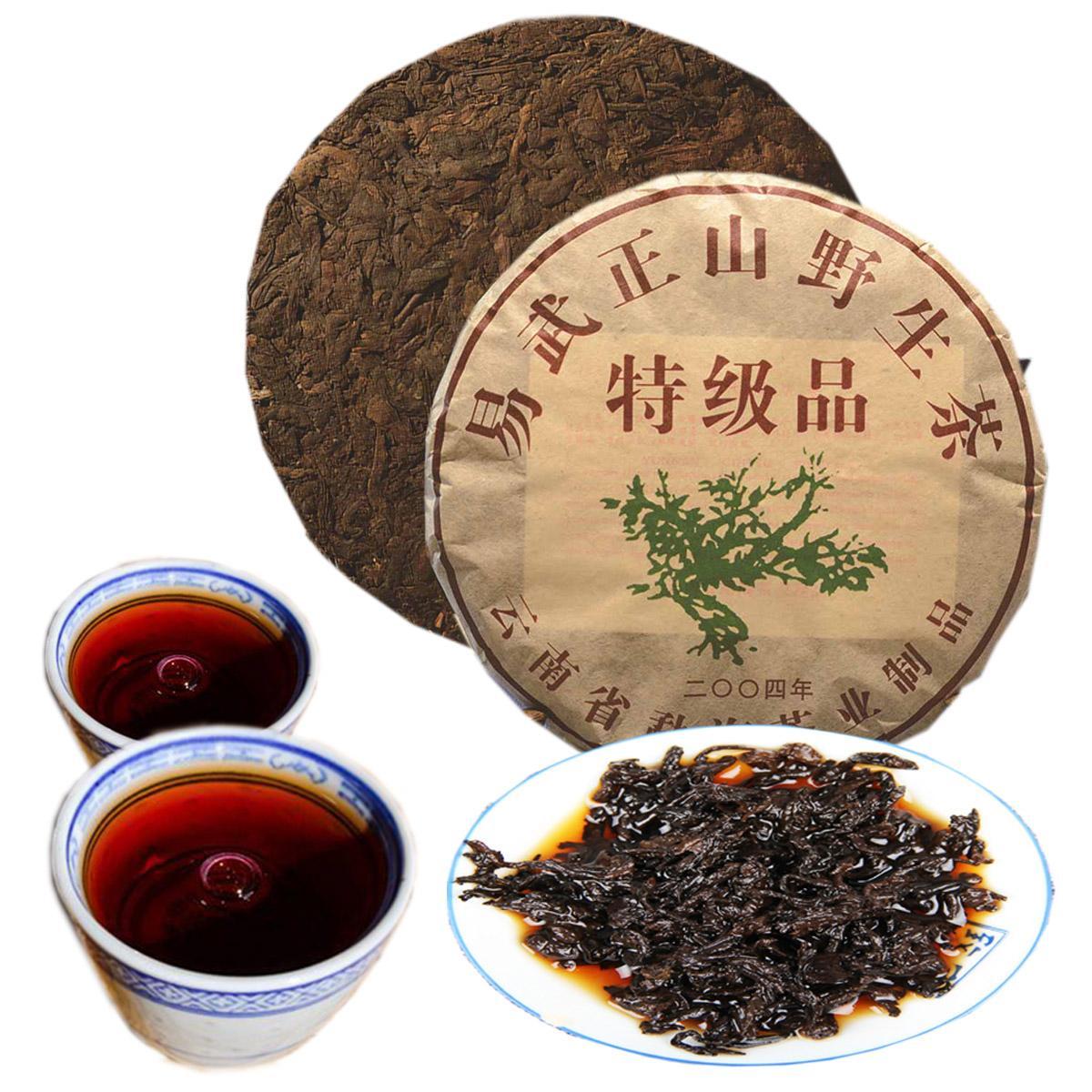 357g Maduro Pu Er chá Yunnan Menghai selvagem Pu er Tea Organic Pu'er Red Puer mais velho Árvore Natural Pu erh preto Puerh Tea bolo