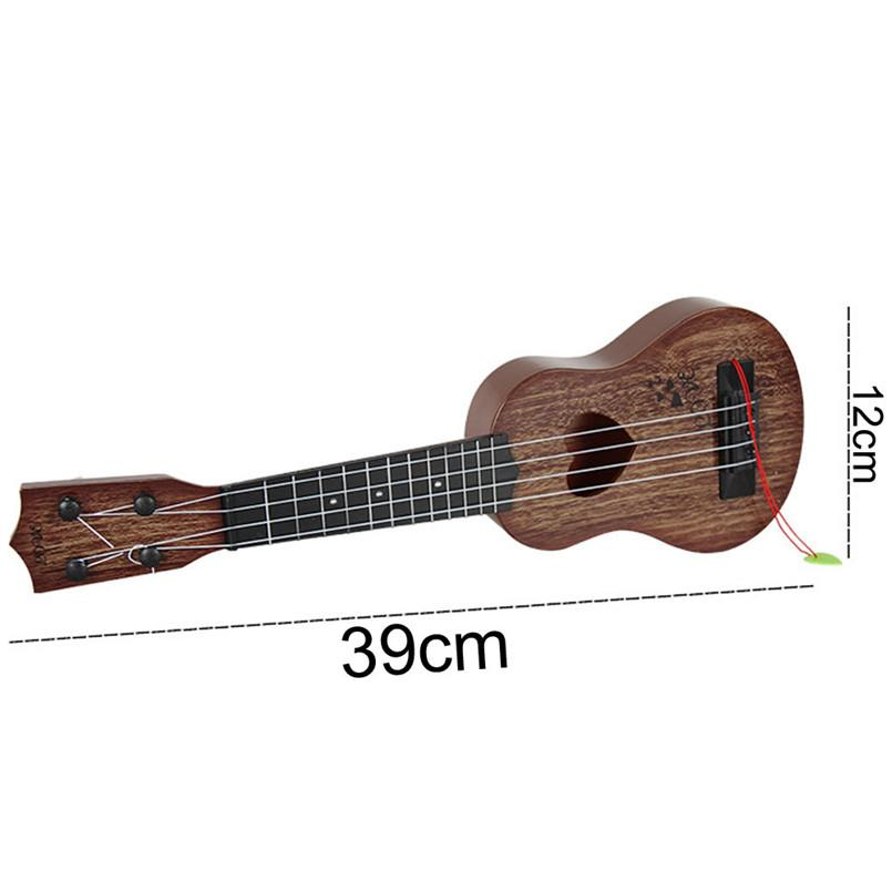 Mini Beginner Classical Safe simple Ukulele Guitar 4 Strings Educational Musical Concert Instrument Toy for Kids Christmas Gift