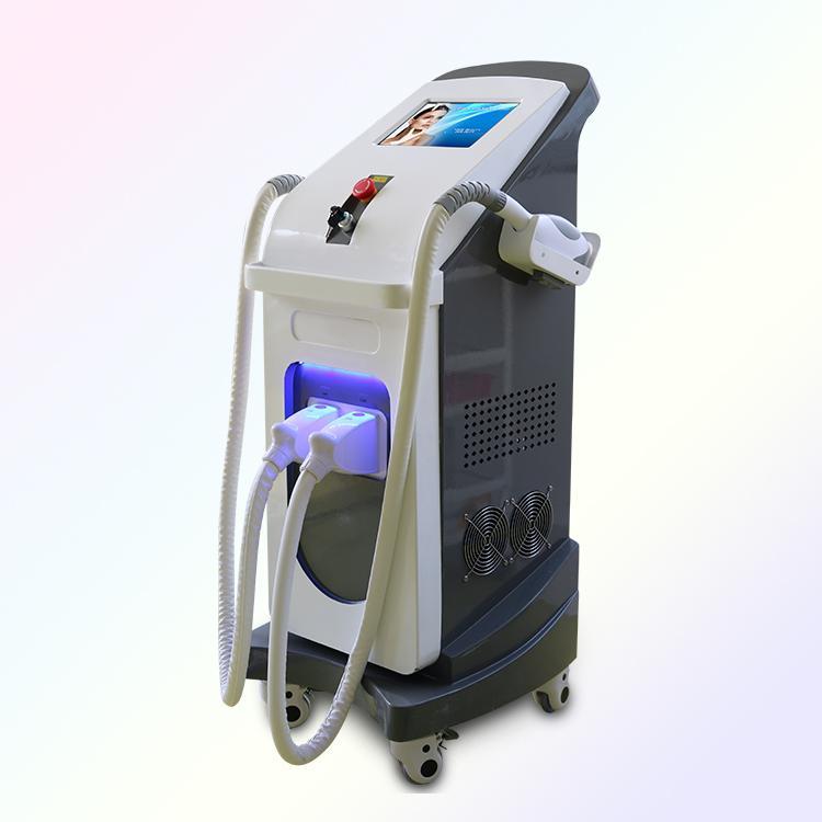 ipl laser yag nd 2 in 1 rf Dluce laser yag nd 2 maniglie di IPL macchina depilazione laser