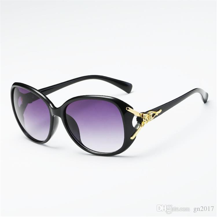 CALDO Moda Donna Occhiali da sole Oversize Frame Occhiali da sole Occhiali anti-UV Occhiali da sole con testa di volpe Occhiali di protezione Occhiali da sole A ++