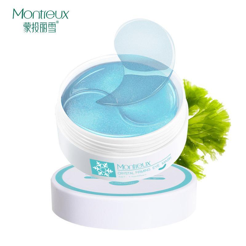 60 peças de alta qualidade Cuidados com os olhos Hidratante Melhorar Círculos Bolsa Belas escuro linhas Remoção Bags máscara de olho Cristal humedecimento e Firmador