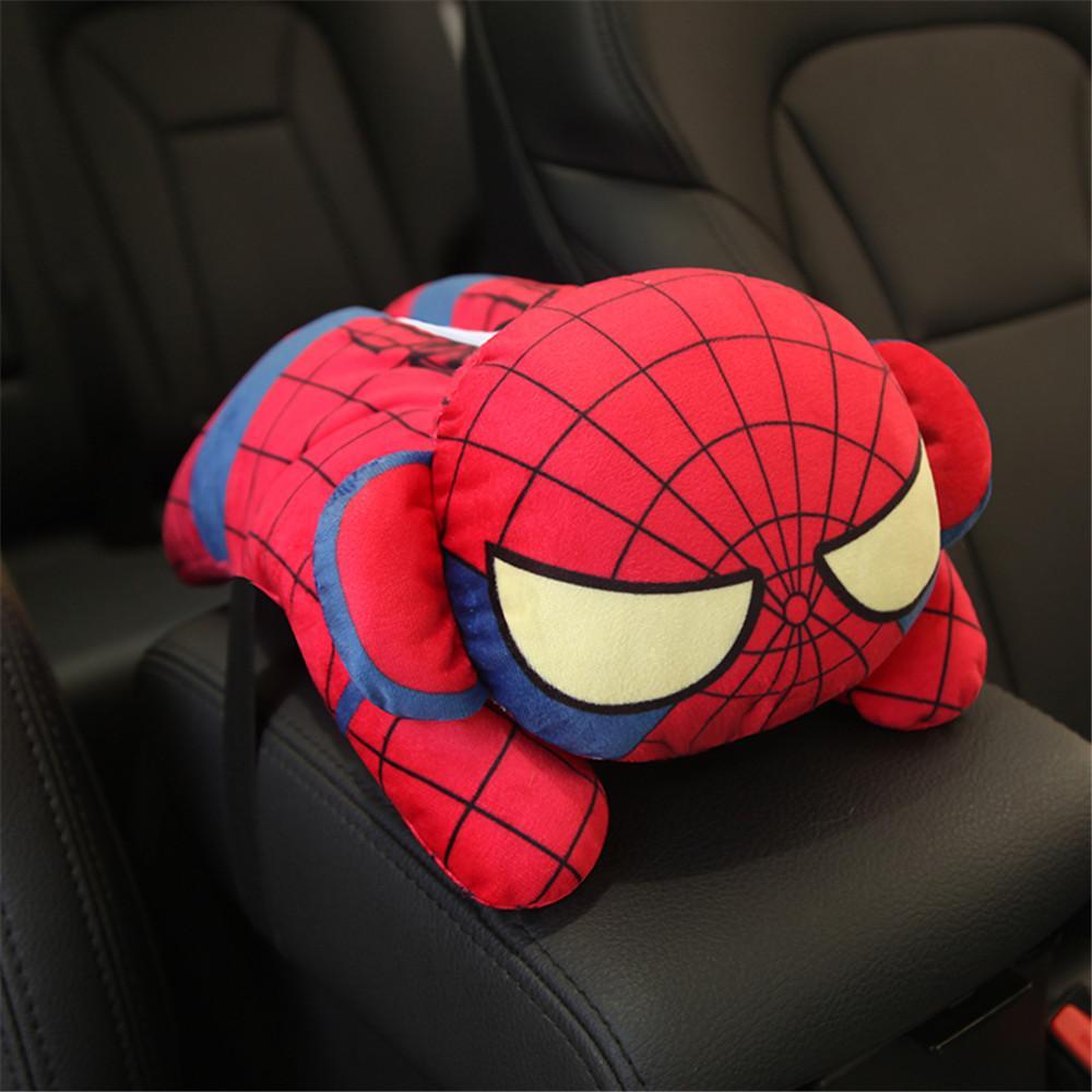 Car Tissue Holder Marvel Cartoon Tissue Box Cover Cute Plush Napkin Holder Car Seat/Hanging/Sun Visor Type Removable Tissue Case