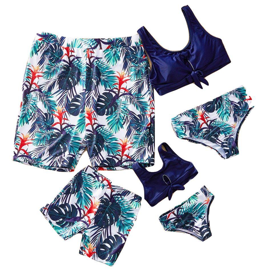 2020 mujer Summer family couples board shorts sweat liner beach short swimwear men siwmming trunks water sports swimsuits