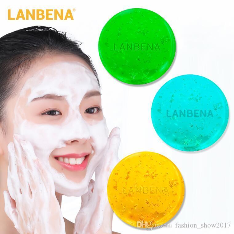 LANBENA Deep Cleansing main Savon femmes visage Nettoyant de la peau Soins du visage hydratant Blackhead Retirer traitement de l'acné