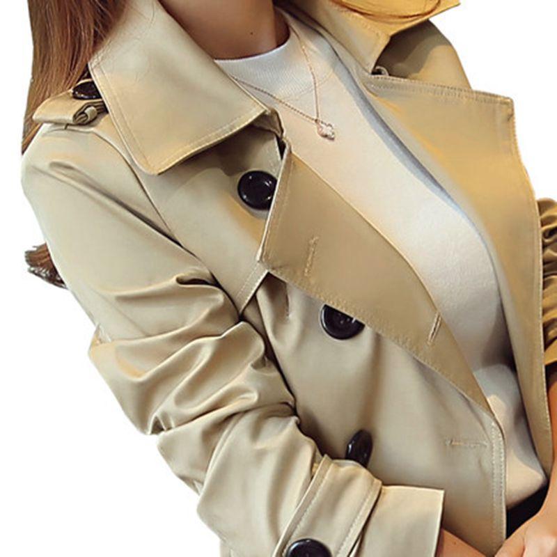 2019 весной новые высокой моды женщина Классический двухместный Брестед пальто водонепроницаемый дождевик Бизнес Верхняя одежда большого размера