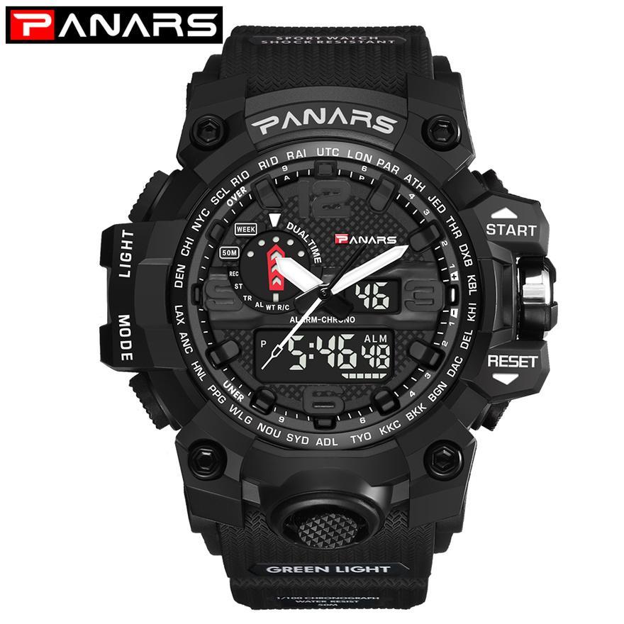 venta al por mayor 2018 hombres de los relojes del deporte al aire impermeable reloj LED digital G masculino choque militar electrónicos reloj del relogio masculino