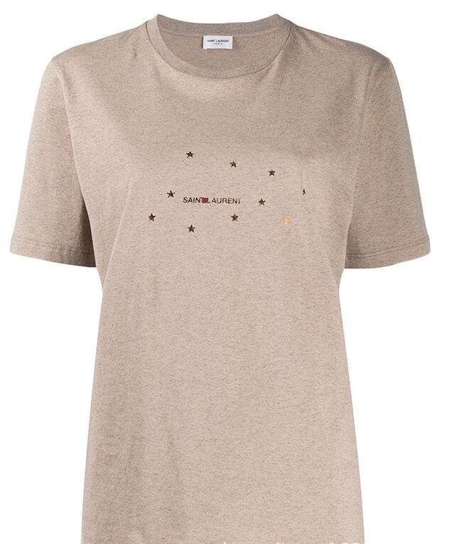 Yaz Erkek GRİ Tişörtlü 2020 yeni varış moda baskılı harfler Tişörtlü Erkek Giyim Kısa Kollu Casual Erkek Üst Tee LLAUREN Gömlek