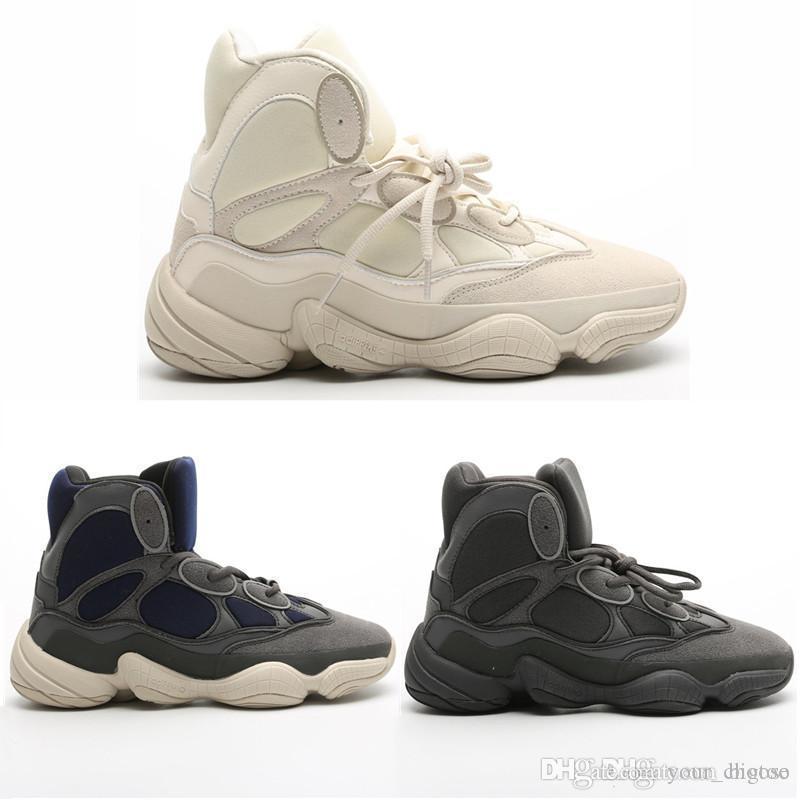 2020 Nuovo Kanye West 500 Alta Slate Deserto di pietre di avvio scarpe invernali 500 bianchi scarpe nere Stivali Dimensione 40-45