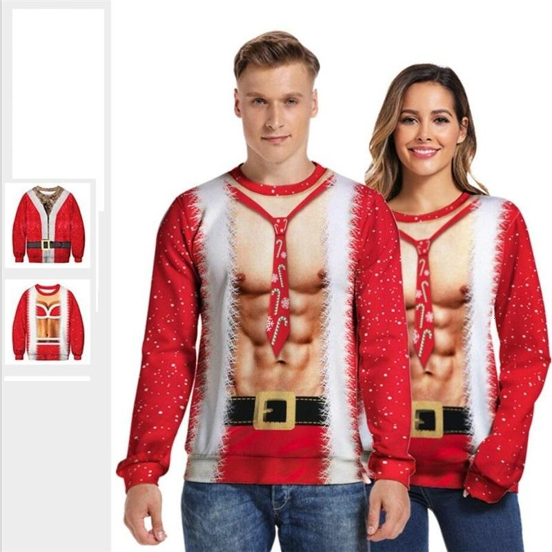 Ugly Christmas Sweaters 2020 Mens 3xl 2020 Ugly Christmas Sweater Pullover Hoodies Men Women 3D Printed