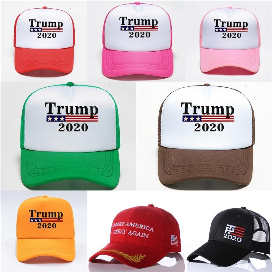Broderie Trump 2020 Make America Great Encore une fois Donald Trump Baseball Casquettes Chapeaux Casquettes de base-ball adultes sport Hat # 911
