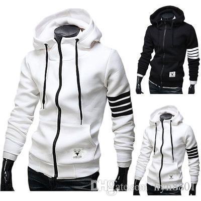 2019 Designer Hoodie Hip Hop Zipper camisola Moda Designer Jacket Casual Jacket Hoodie Tamanho M-3XL # HD04