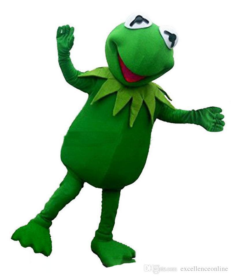 2019 Indirim fabrika satış yeni Yeşil kurbağa Maskot Kostümleri Karikatür Karakter Yetişkin Sz