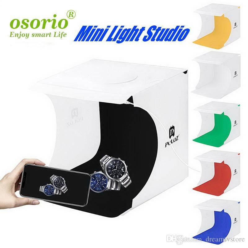 Mini Folding Lightbox Photographie Photo Studio Softbox LED Panel Soft Light Box photo arrière-plan Kit boîte de lumière pour appareil photo reflex numérique gratuit