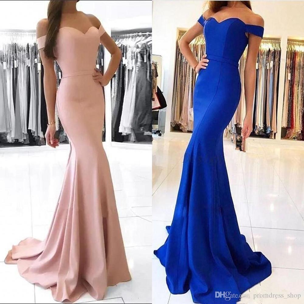 Dusty Rose pas cher Encolure sirène Robes de bal Vintage gaine robe de soirée longue de demoiselle d'honneur Party Dress formelle