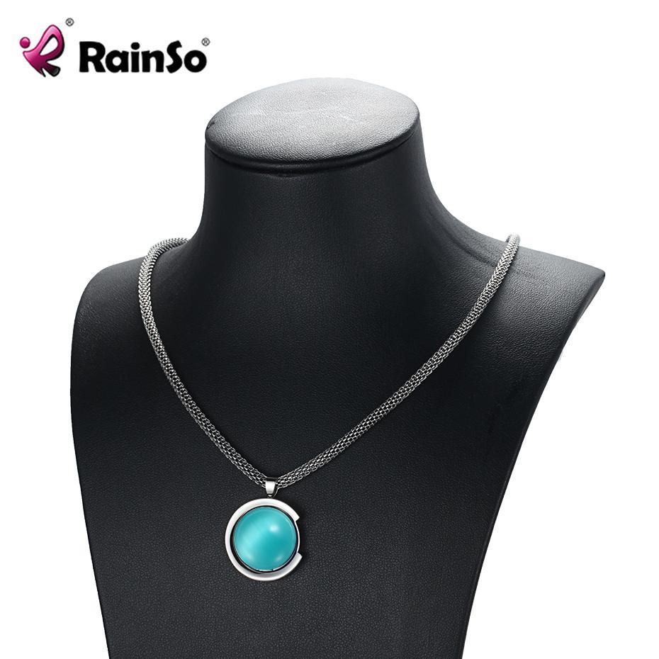 vendita all'ingrosso magnetico opale collane pendenti in acciaio inox 2018 moda guarigione collane catena a maglia classica per le donne