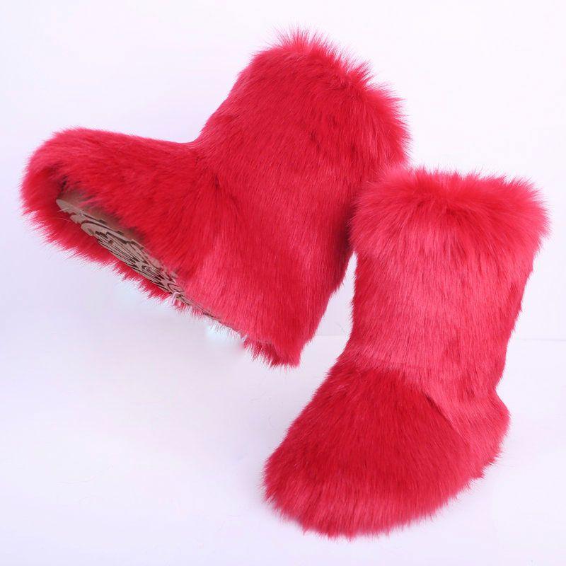 sıcak satış kar botları büyük boy kadın ayakkabı kış sıcak kar botları moda Düz renk Xdx-2 peluş
