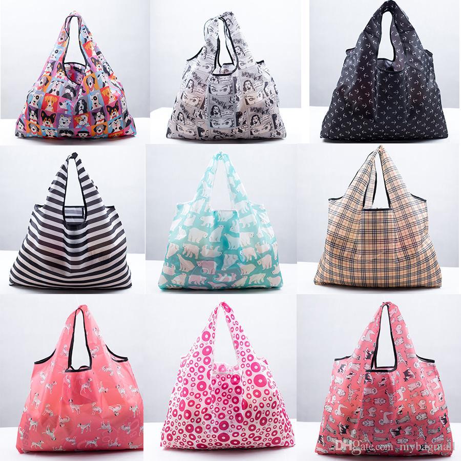 뜨거운 판매 패션 큰 크기 300 D 옥스포드 쇼핑 여행 환경 잡화 레이디 여성을위한 슈퍼마켓 핸드백