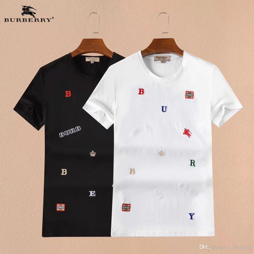 2020 Pareja de la alta calidad del algodón del verano de la camiseta 20200210-005