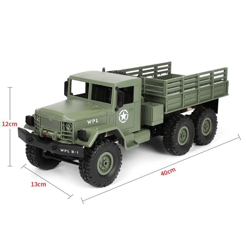 WPL B16 RC Военный грузовик Комплекты 4WD 1/16 Бездорожье Гусеничный автомобилей игрушки мальчиков Дети DIY