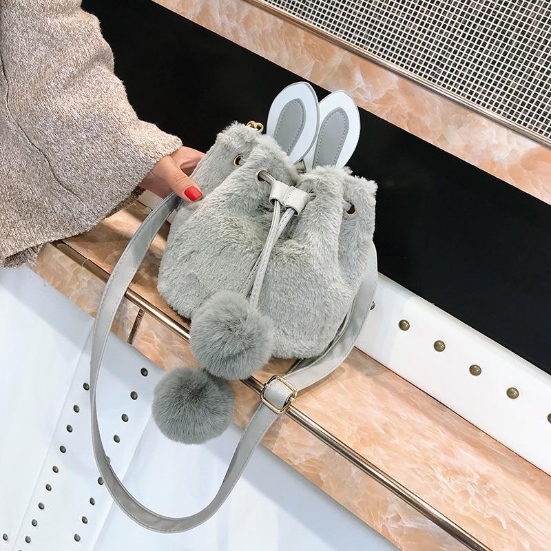 2020 Nouveau mode simple de l'épaule Femmes Lady Sac bandoulière japonais mignon épaule en peluche Lady Bag